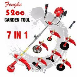 2017 Professional quality 7 in 1 Grass cutter with 52cc Engine Multi Brush