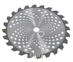 24T 25.4mm Bore Diameter 255mm Carbide Brush Cutter Blade Strimmer Steel UK