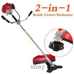 2-stroke Petrol Garden Brush Bush Cutter 52cc Grass T-rimmer Strimmer Lawn Mower