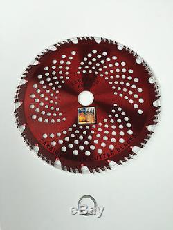 2pk-CARBIDE brush cutter, Trimmer RAZOR RENEGADE BLADE 56 teeth 203mm AUS