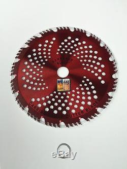 2pk-CARBIDE brush cutter blade Trimmer RAZOR RENEGADE BLADE 68 teeth 230mm UK