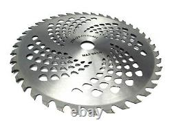 40T 25.4mm Bore Diameter 255mm Carbide Brush Cutter Blade Strimmer Steel UK