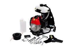 43cc Backpack Petrol Power Grass Trimmer Strimmer Brush Cutter Varan Motors New