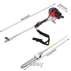4 in 1 Garden Hedge Trimmer Petrol Strimmer Chainsaw Brushcutter Multi Tool 42cc