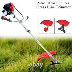 52CC Petrol Garden Brush Cutter, Grass LineTrimmer Two-stroke Air-cooled Lawn