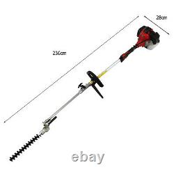 52cc 4 in 1 Garden Multi Tool Strimmer Petrol Hedge Trimmer Chainsaw Brushcutter