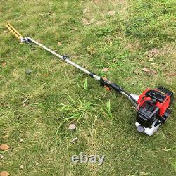 52cc 5 in 1 Garden Multi Tool Strimmer Petrol Hedge Trimmer Chainsaw Brushcutter