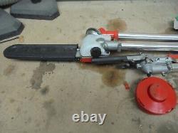 52cc 5 in 1 Hedge Trimmer Multi Tool Petrol Strimmer BrushCutter Garden A5195