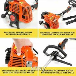 52cc Garden Hedge Trimmer Grass Strimmer Blade Petrol 5 in1 Chainsaw Brushcutter
