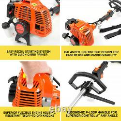 52cc Multi Function 5 in 1 Garden Tool Brush Cutter, Grass Trimmer, Chainsaw
