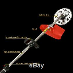 52cc Multi Function 5 in 1 Garden Tool Brush Cutter, Grass Trimmer Chainsaw UK