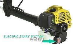 52cc Petrol Grass Strimmer Brushcutter Electric Start Lawn Trimmer Garden Tool