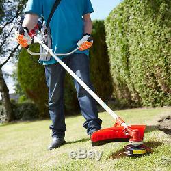 52cc Petrol Lightweight Grass Lawn Edge Weed Strimmer & Brushcutter Cordless