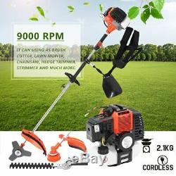 5 IN 1 52CC Petrol Grass Strimmer Brush Cutter Chainsaw Hedge Trimmer Garden F