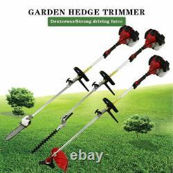 5 In 1 Garden Grass Hedge Trimmer Set Petrol Strimmer Chainsaw Brush Cutter 52cc