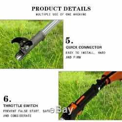 5 in1 Hedge Trimmer Multi-Tools Petrol Strimmer Chainsaw Garden Brushcutter 52cc
