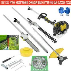 5 in 1 52cc Petrol Hedge Trimmer Chainsaw Brush Cutter Pole Saw Multifunctional
