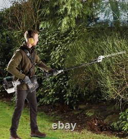 5 in 1 Petrol Multi Garden Tool Chainsaw Hedge Trimmer Strimmer Brush Cutter
