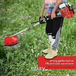 63cc 2-Stroke 5 in 1 Gas Brush Cutter Weed Eater + Safety Bundle