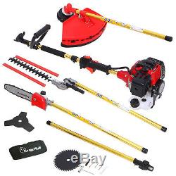 6in1 Petrol Brush Cutter Grass Trimmer Hedge Pruner Lawn Mower