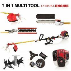 7 in 1 Multi tool Brush cutter 4 stroke GX35 Engine Petrol strimmer Grass
