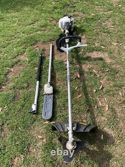 Alpina Brushcutter with Chainsaw attachment And Extension Pole