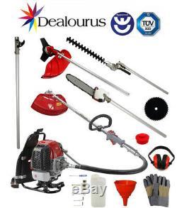 Dealourus Back Pack 5 in 1 Petrol Multi Tool Brush Cutter Hedge Trimmer Pruner