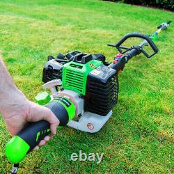 G-Whizz ELECTRIC START 33cc Petrol Multi Tool Brush Hedge Grass Trimmer