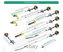 Garden 52cc 5 In 1 Hedge Trimmer Multi Tool Petrol Strimmer Brush Cutter UK