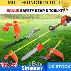 Garden 5 in 1 Multi Tool Brushcutter Strimmer Hedge trimmer Tool Pole UK