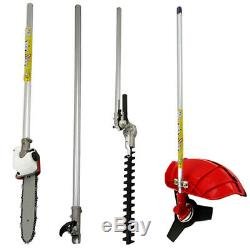 Garden Hedge Trimmer 5 in 1 Petrol Strimmer Chainsaw Brushcutter Multi Tool 52CC