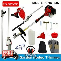 Garden Multi Tool Strimmer Petrol Hedge Trimmer Chainsaw Brushcutter 52cc 5 in 1