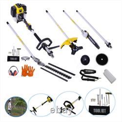 New 5 In 1 Hedge Trimmer Multi Function Garden Tool Brush Cutter Garden Chainsaw
