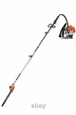 Petrol Backpack Strimmer Brush cutter Chainsaw Hedge trimmer Garden 5 in 1 52cc