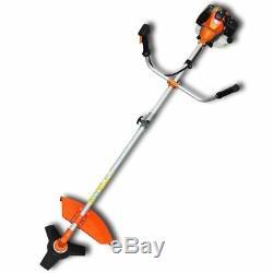 Powerful Petrol Strimmer Garden Grass Brush Cutter Trimmer Orange 52CC Weeder UK
