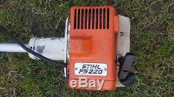Stihl FS220 Petrol Strimmer Brushcutter. Good Working Order. Free Postage