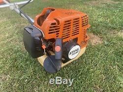 Stihl FS80 Strimmer Brushcutter Garden Lawn Grass 2 Stroke Petrol Cow Horn Bars