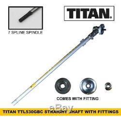 TITAN TTL530GBC Straight Shaft Attachment & Fittings for Strimmer Brushcutter