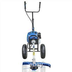 Wheeled Grass Trimmer Heavy Duty 52cc Petrol Grass Brush Cutter Strimmer
