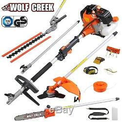 Wolf Creek 58cc 5 in1 MultiTool Petrol Hedge Trimmer Strimmer Brushcutter Pruner