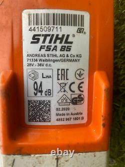 2020 Stihl Fsa 85 Battery Strimmer Bundle Ap100 Battery Al101 Charger Grass Lawn