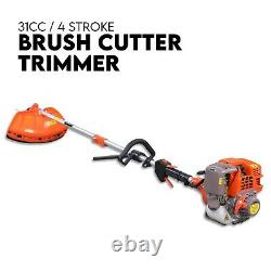4 Course 31cc Brushcutter Line Trimmer Whipper Snipper Cordless Garden Tool