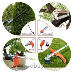 52cc 5 En 1 Hedge Trimmer Multi Outil Essence Strimmer Brushcutter Garden Chainsaw