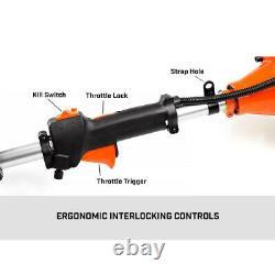 52cc 5 En 1 Jardin Multi Tool Strimmer Petrol Hedge Trimmer Chainsaw Brushcutter