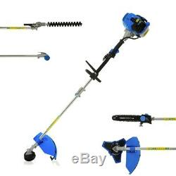 52cc 5in1 Multi Outils Jardin Set Chainsaw Trimmer Strimmer Débroussailleuse