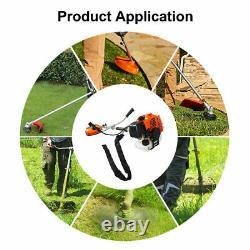 52cc Brush Cutter De Jardin Pétrolifère, Grass Linetrimmer Pelouse Refroidie À L'air À Deux Temps