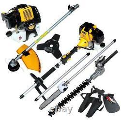 52cc Essence 5 En 1 Garden Multi Tool Tailleur De Haies Strimmer Brushcutter Chainsaw