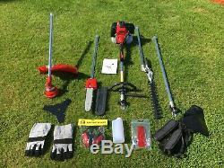 52cc Essence 5 En 1 Jardin Multi Tool Hedgetrimmer Tondeuse À Gazon Sécateur Débroussailleuse