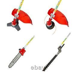 52cc Essence 5-en-1 Garden Multi Tool Grass Trimmer Brosse Cutter Chainsaw Pruner