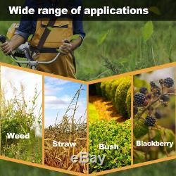 52cc Essence Jardin Débroussailleuse Coupe-herbe Puissant Cutter Orange 1.25kw Royaume-uni